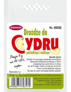 Drożdże do cydru...