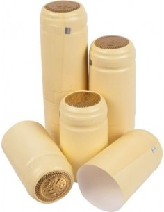 Kapturki termokurczliwe do butelek - kremowe 100x - 1 - Wino domowe