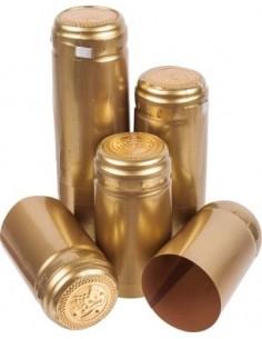 Kapturki termokurczliwe do butelek - złote 100x - 1 - Wino domowe