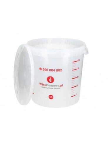 Pojemnik fermentacyjny WinoDomowe.pl 30L  uszczelka  rurka fermentacyjna - 1 - Gorzelnictwo i destylacja