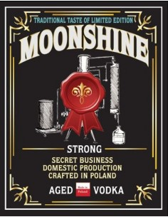 Etykieta MOONSHINE STRONG...