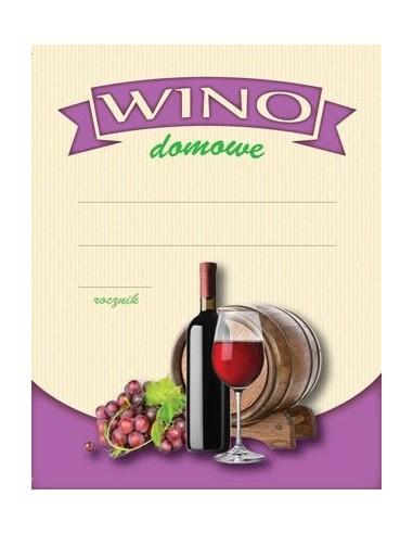 Etykieta WINO DOMOWE CZERWONE - 1 - Gorzelnictwo i destylacja