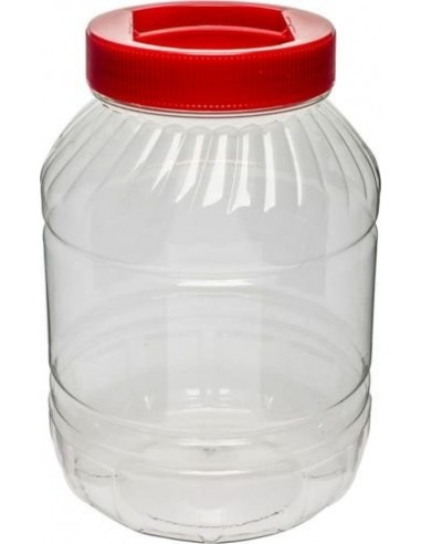 Plastikowy słój 5L - czerwona zakrętka
