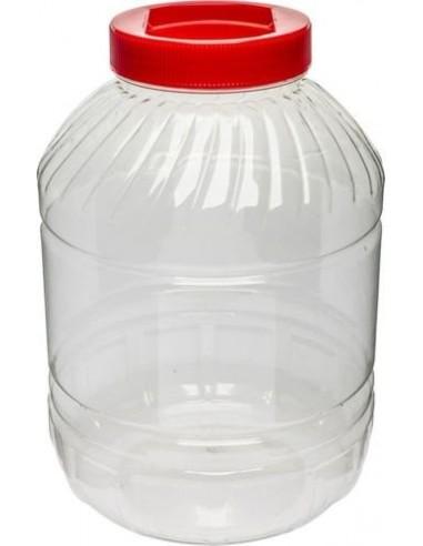 Plastikowy słój 10L - czerwona zakrętka - 1 - Pozostałe
