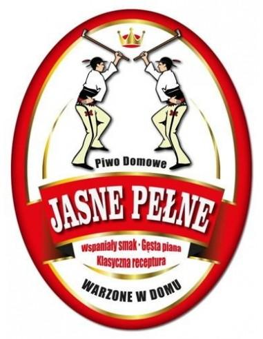 Etykieta owalna na piwo domowe JASNE...