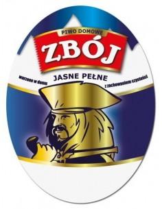 Etykieta owalna na piwo domowe ZBÓJ - 1szt. - 1 - Piwo domowe