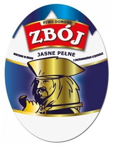 Etykieta owalna na piwo domowe ZBÓJ -...