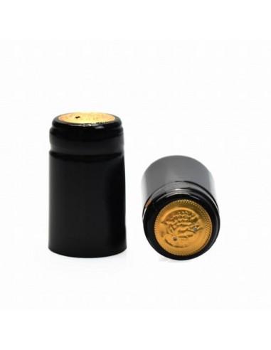 Kapturki termokurczliwe do butelek - czarne błyszczące 10x - 1 - Wino domowe