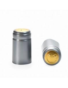 Kapturki termokurczliwe do butelek - srebrne 10x - 1 - Wino domowe