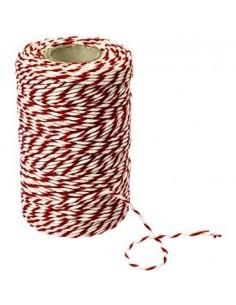 Nić wędliniarska - biało/czerwona, bawełniana 100g - 1 - Wędliniarstwo