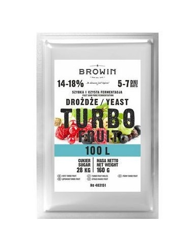 Drożdże gorzelnicze Turbo Fruit - 100L