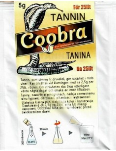 Tanina do win czerwonych - Coobra na 25L - 1 - Wino domowe