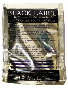 Drożdże gorzelnicze Black Label Turbo 18% - 1 - Gorzelnictwo i destylacja