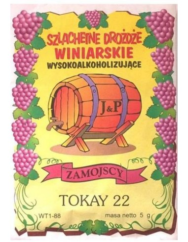 Drożdże winiarskie - Tokay 22 - Zamojscy