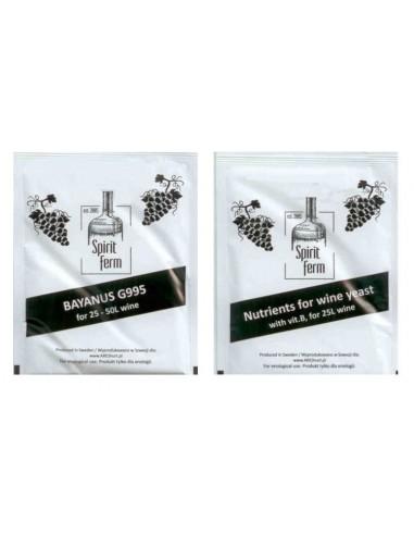 Drożdże winiarskie SpiritFerm Bayanus 10g  pożywka 10g - 1 - Wino domowe