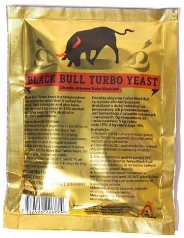 Drożdże gorzelniane Black Bull 18% - HURT 10 szt. - 7,80 zł / szt. - 1 - Drożdże Turbo HURT