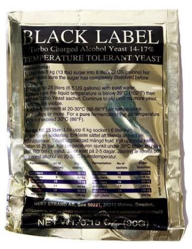 Black Label Turbo 18% - HURT 10 szt.- 10,90 zł / szt. - 1 - Drożdże Turbo HURT