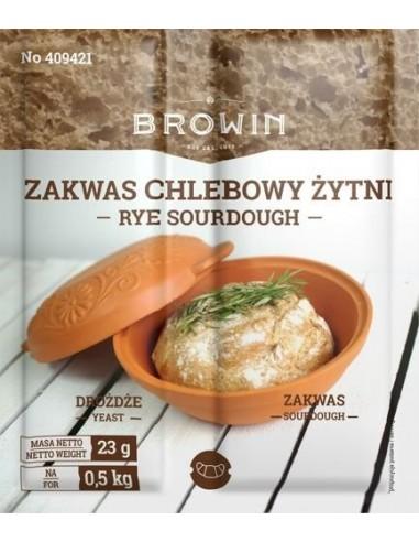 Zakwas chlebowy z drożdżami i słodem - żytni 23g - 1 - Piekarstwo