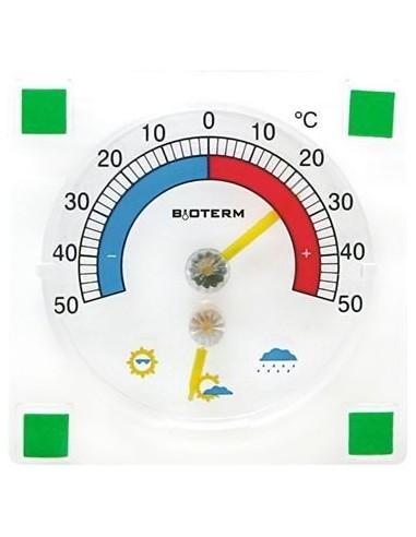 Termometr zaokienny przyklejany 77x77mm